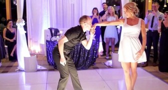 Parecia uma festa de casamento normal, até que os noivos começaram a dançar...