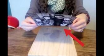 Pega una foto sobre una tabla de madera. Lo que sale afuera es magnifico!