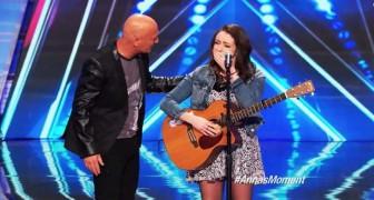 Ze heeft angst en depressie, maar vindt de moed om te zingen. En het is fantastisch!