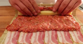 He Rolls Beef And Cheese Into Bacon: this is unbelievably delicious!