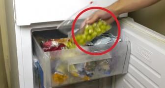 En congelant les grains de raisins, cet homme vous révèle un secret... rafraîchissant!
