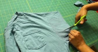 Transforme uma camiseta velha em uma bolsa!