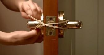 Elle noue un élastique autour de la poignée: son secret peut vous éviter de gros problèmes