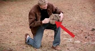Faz quatro cortes em um pedaço de lenha: este método engenhoso vai te surpreender!