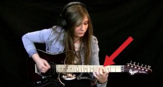 Un maestro resume a su alumna a la guitarra electrica: su talento es IMPACTANTE
