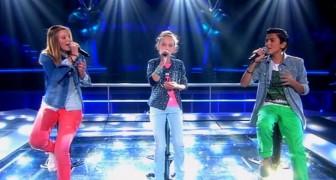 A música é muito difícil, mas estes três jovens cantores são muito talentosos!