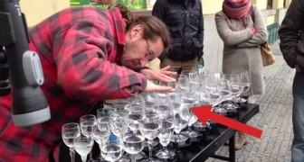 Ein Mann und 33 Wassergläser: Sein Talent wird euch Gänsehaut machen