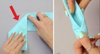 Take a napkin and follow these easy instructions: the result is BRILLIANT !