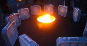 Posiciona 12 ventiladores alrededor de un fuego...el resultado es simplemente EPICO