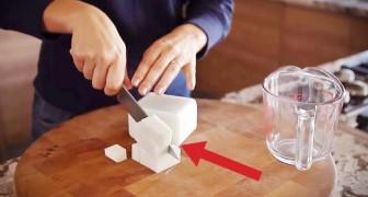 Corta un pedazo de jabon en cubos y les agrega cafe: resultado sorprendente!