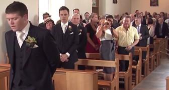 De bruid kom binnen: de manier waarop ze wordt binnengehaald is spectaculair