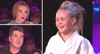 She looks like a sweet little girl, but when her act starts the judges are speechless !