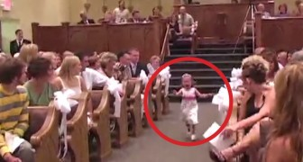 Some children are taking the rings at the altar, but SOMETHING doesn't go as planned ...