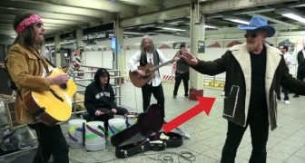 O grupo U2 se disfarça e toca no metrô: a reação das pessoas é surpreendente!