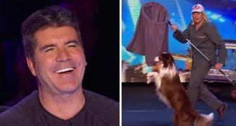 Ein Hundefänger und ein Hund kommen auf die Bühne: Ihre Nummer ist SUPERWITZIG!