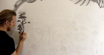 Een potlood en een witte muur: wat deze kunstenaar daarmee doet is indrukwekkend