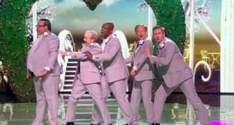 Als diese Herren auf die Bühne kommen, kann sich niemand so einen Auftritt vorstellen