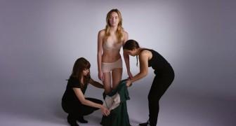 En tjej, 2 hjälpare och VÄLDIGT många olika kläder: resultatet är häpnande