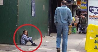 Een meisje is verdwaald: wat deze man probeert te doen is SCHOKKEND!