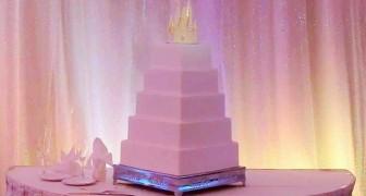 Parece um bolo de casamento normal, mas esconde um segredo fabuloso!