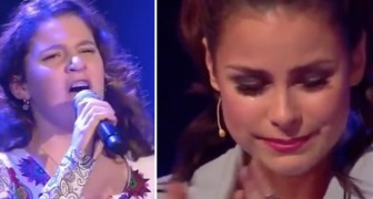 Ze is pas 13 jaar en zingt een Italiaans nummer: de reactie van het publiek is uitzinnig!