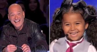 Bara 5 år gammal vinner hon publiken hjärta med sin personlighet, sin röst och... sina fötter!