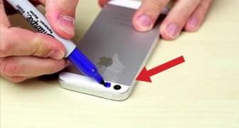 Pone la cinta adhesiva sobre el celular y lo colorea: lo que registra es sorprendente!