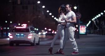 Miren esta pareja de bailarines en la calle: aqui el baile mas adictivo y sensual jamas visto