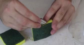 Er steckt einen Magneten in einen Schwamm: Entdeckt diesen genialen Putztrick