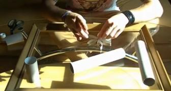 Un vieux CADRE et des rouleaux de CARTON : voici comment créer un superbe objet pour la maison