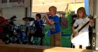 Children playing Metallica