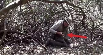 Een ontdekkingsreiziger hoort gekrijs vanuit een bos dat in brand staat: hij besluit om in actie te komen!