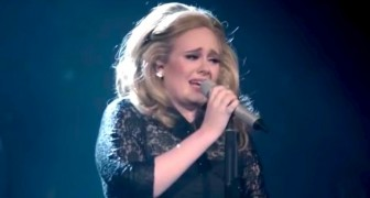 Adele burst into tears during her performance ... the end will give chills !