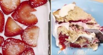 Voici comment faire un délicieux dessert à la fraise avec 5 simples ingrédients et sans four