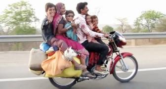 Cet automobiliste n'en croit pas ses yeux: regardez comment voyage cette famille!
