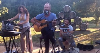 STING gets his guitar and SURPRISES his guests ... The video is viral on the web