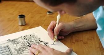Há cerca de 12 pessoas no mundo que sabem esta arte. E ele é o mais jovem.
