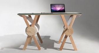 Su questa scrivania con carta scorrevole potete registrare fino a un chilometro di idee e disegni