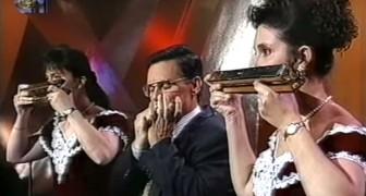 Três pessoas com a gaita de boca tocam Beethoven: o resultado é espetacular