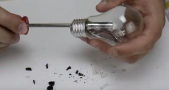 Esvazia uma lâmpada e a transforma em objetos muito diferentes...