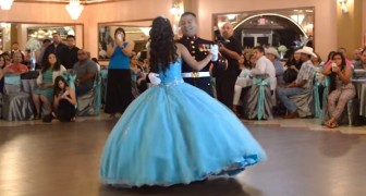 Er tanzt mit seiner Tochter an ihrem Geburtstag, doch was dann passiert, überrascht alle