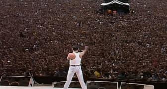 30 jaar geleden trad Queen op tijdens dit concert... muziek was nooit meer hetzelfde!