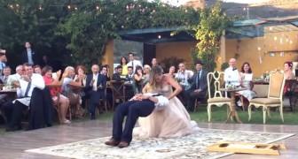 El baile de la boda es bellisimo, pero en un cierto punto parece incluso...MAGICO!