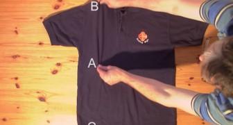 Lernt, wie man ein Hemd in weniger als zwei Sekunden falten könnt