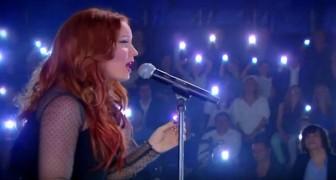 Sie beginnt den Song Hallelujah zu singen. Ihre Version ist Genuss pur