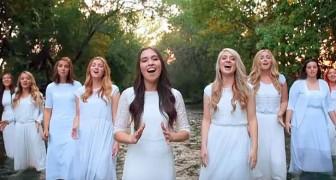 9 meisjes vormen een lijn: hun stemmen samen bezorgen je kippenvel!