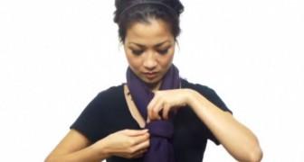 Ein Mädchen zeigt 25 überraschende Möglichkeiten, einen Schal zu tragen... in vier MInuten