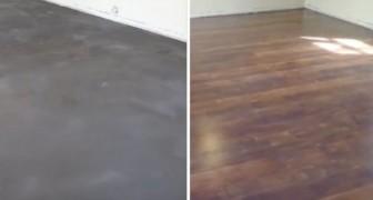 Parece um piso de madeira, mas é cimento: veja como é possível!