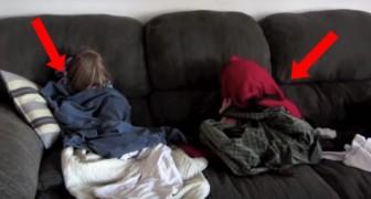 El motivo por la cual estos niños se esconden (mal) los hara reir!