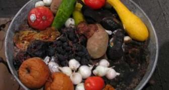 Decomposizione di frutta e vegetali